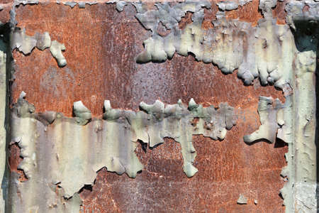 falling apart: Rusty metal texture with paint falling apart Stock Photo