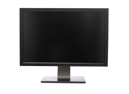 computer monitor: Professional wide monitor isolated on white