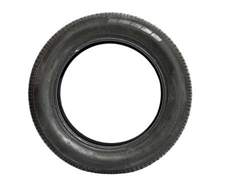 tire tracks: Coche del neum�tico aislado en fondo blanco