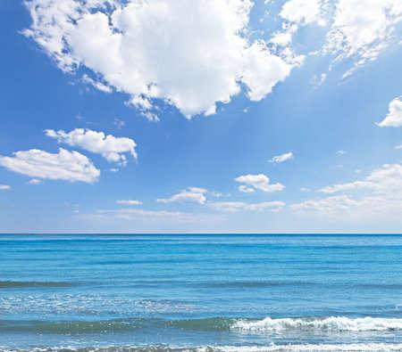 Sea and blue sky background photo