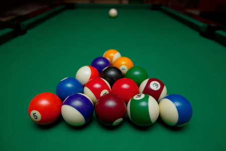 Pool Table Set Up For Beginning Stock Photo Picture And Royalty - How do you set up a pool table