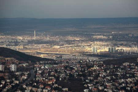 Budapest twilight panorama photo