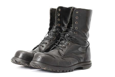 botas: Un par de botas de cuero steelcap
