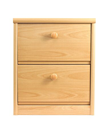 Small drawer cabinet isolated on white background photo