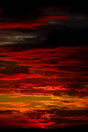 doom: Dramatic sunset sky with spectacular clouds