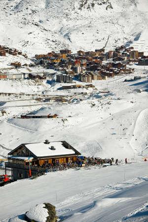 Ski resort in the French Alps Stock Photo - 11534697