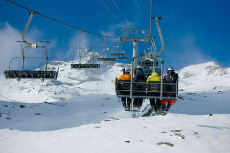 Chairlift of a ski slope