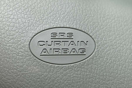 Curtain airbag label in a car Stock Photo - 11840666