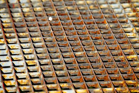 Old, rusty metal grid closeup Stock Photo - 12650725