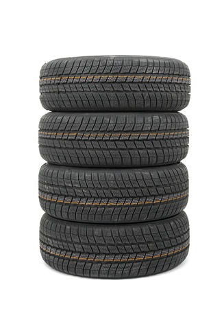 A set of new winter tyres Stock Photo - 12650705