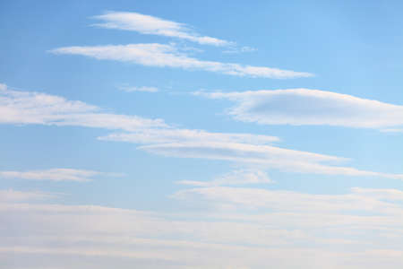 peaceful background: Soft smooth clouds in the blue sky