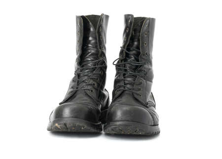 combat boots: A pair of steel-capped boots