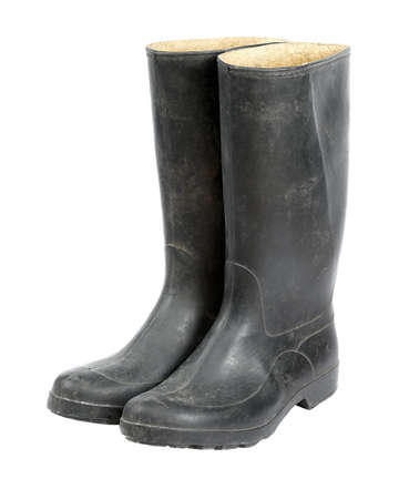 A pair of rubber boots photo
