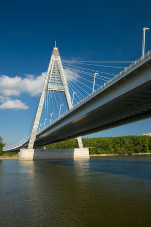 megyeri: Highway bridge over the river Stock Photo