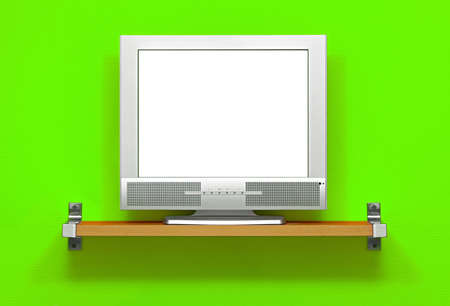 LCD TV with blank white screen Stock Photo - 13191435