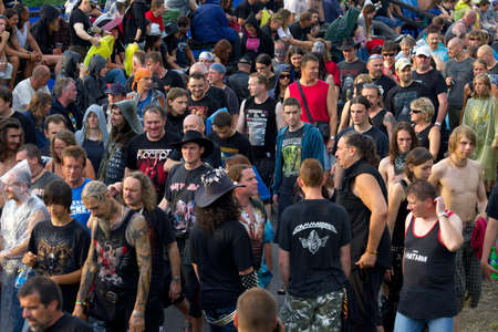 masters of rock: 14th JULY - VIZOVICE:  Crowd at the Masters of Rock festival on 14th July, 2011, Vizovice, Czech Republic.