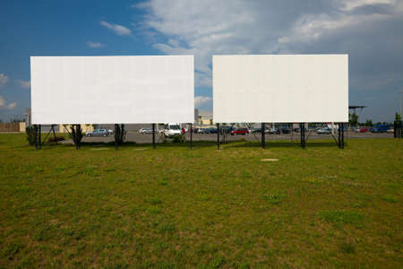Blank billboards at a parking lot Stock Photo - 13295887