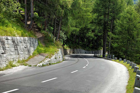bandy: Bandy road in the mountains Stock Photo