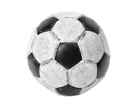Football isolated on white photo