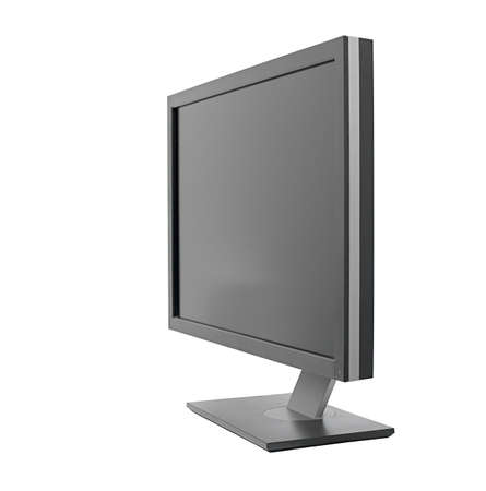 flat panel monitor: Monitor isolated on white background