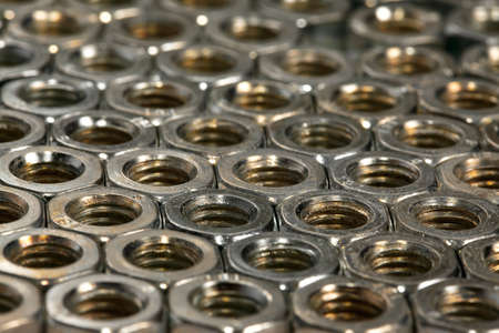 Big array of metal nuts photo