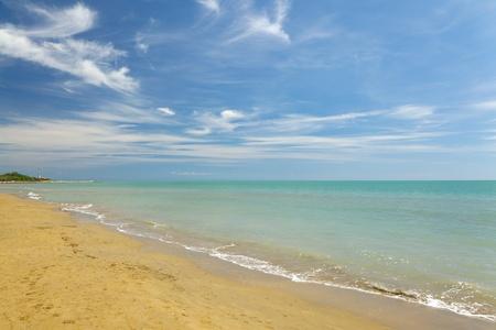 Sandy beach in summer photo