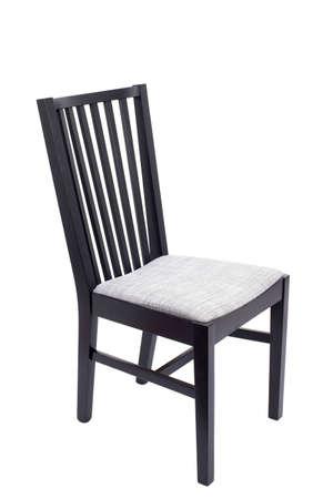 silla de madera: Silla de madera aislada en el fondo blanco Foto de archivo