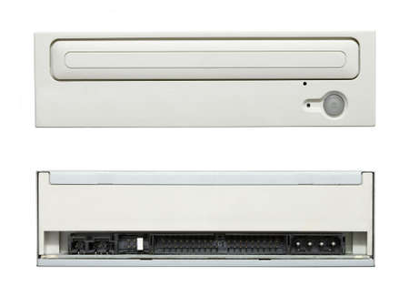CD drive front and back side Stock Photo - 15904046
