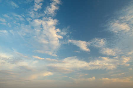 Clouds in soft sunset light Stock Photo - 15904035