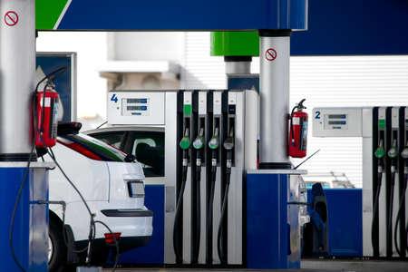 refilling: Fuel station for refilling cars