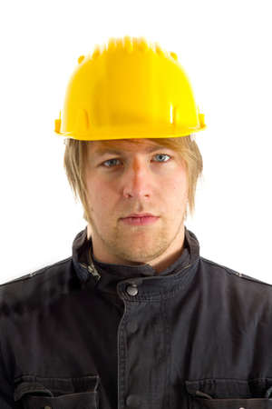 Engineer portrait in hardhat Stock Photo - 16140924
