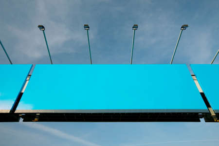Blank signboard over a highway Stock Photo - 16221354