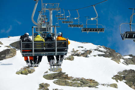 Chairlift on a ski resort Stock Photo - 16221372