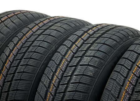 A set of winter tyres Stock Photo - 16221378