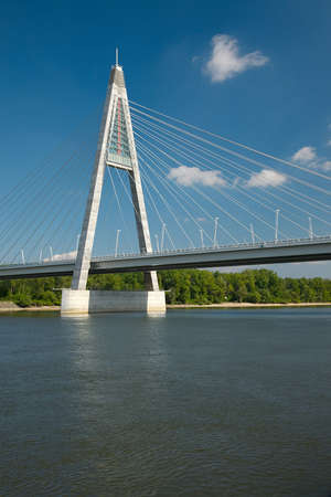 megyeri: Cable-stayed bridge for a highway Stock Photo