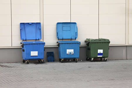Garbage dumpers at the side of a building Stock Photo - 17973615