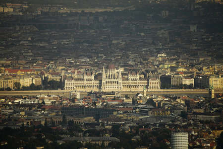 viewpoints: View of Budapest in twilight
