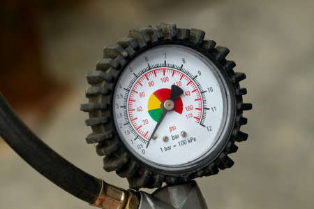 Manometer for car tyre pressure setting Stock Photo - 18223212