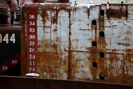 Abandoned rusty ship details Stock Photo - 18223356
