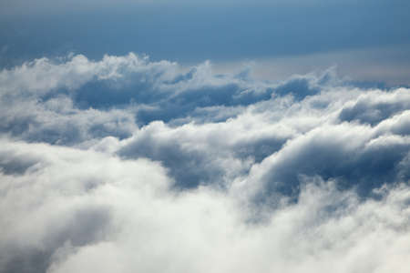 sky with clouds: Above the clouds in the sky
