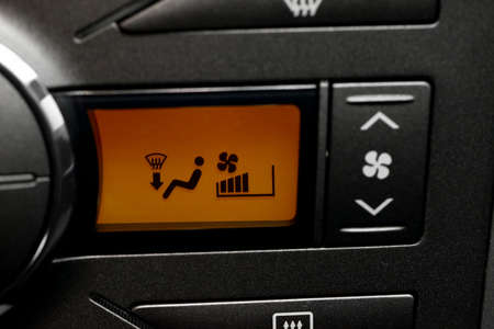 Buttons of the heating and air conditioning system of a car photo