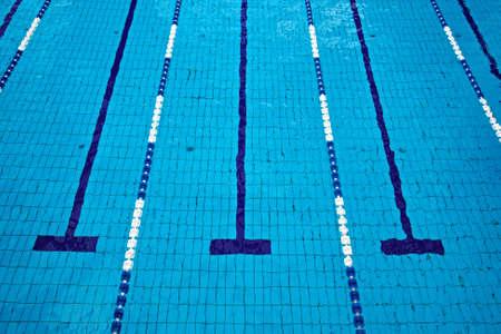 piscina olimpica: Piscina con los carriles vac�os