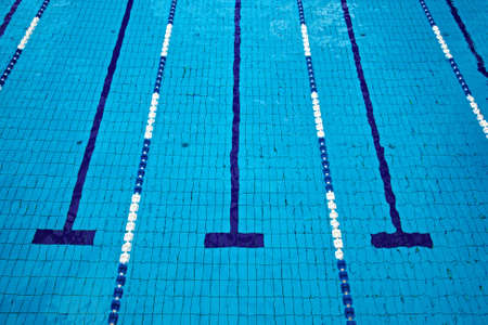 lane lines: Swimming pool with empty lanes