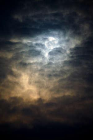 doom: Dark winter sky with thick clods
