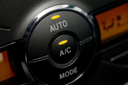 Air conditioning buttons of a car Stock Photo