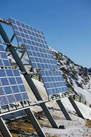 Solar Panels on a mountain photo