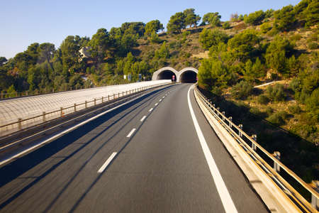tunnel view: Highway with tunnels