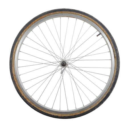 Bicycle wheel isolated on white background