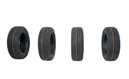 A set of new winter tyres Stock Photo - 19935451