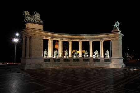 Heroess Square monument in Budapest, Hungary photo